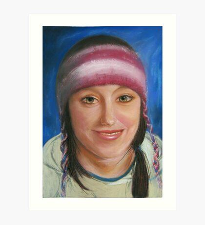Girl with Woollen cap Art Print