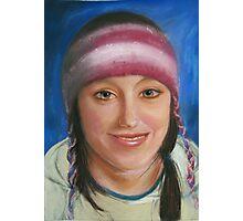 Girl with Woollen cap Photographic Print