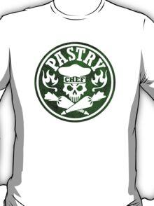 Pastry Chef Skull Logo Green T-Shirt