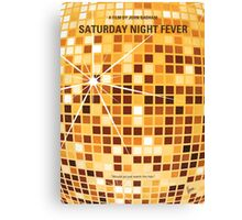 No074 My saturday night fever minimal movie poster Canvas Print