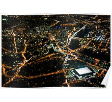Brisbane CBD from 2500ft Poster