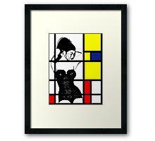 Mondrians Web Framed Print