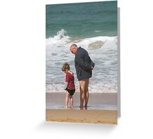Poppy and Kane at the Beach Greeting Card