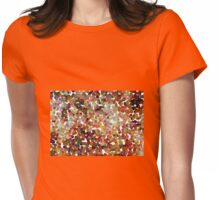 Small Orange Pollen Womens Fitted T-Shirt