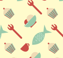 Food seamless pattern Sticker