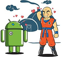 Android 18 Love Story - Krillin - Anime - Dragonball Z by loltshirts