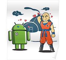 Android 18 Love Story - Krillin - Anime - Dragonball Z Poster