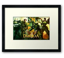 ¡For Demacia! Framed Print