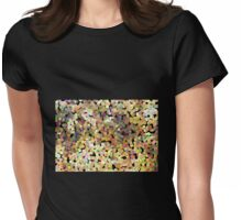 Small Brown Pollen Womens Fitted T-Shirt