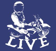 Motocross T Shirt White by Fangpunk