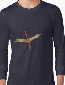 Closeup of Red Skimmer or Firecracker Dragonfly Isolated T-Shirt