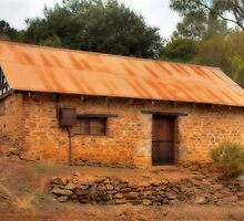 Old Stone Cottage, Grey's Hill, Bridgetown, WA. by Elaine Teague