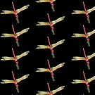 Closeup of Red Skimmer or Firecracker Dragonfly Isolated by taiche