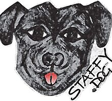Staffy Dogs Fun Face by StaffyDognCo