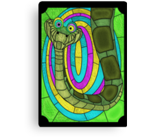 Kaa - stained glass villains Canvas Print