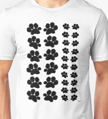 Paw Prints Pattern Unisex T-Shirt