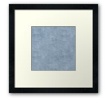 Dusty Blue Oil Pastel Color Accent Framed Print