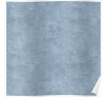 Dusty Blue Oil Pastel Color Accent Poster