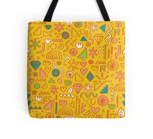 Busy Day Yellow Tote Bag