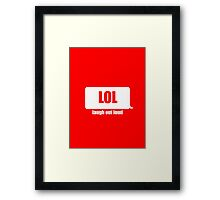 Laugh Out Loud Framed Print