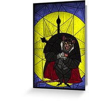 Steal the crown jewels - stained glass villains Greeting Card