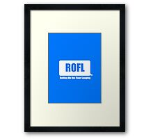 Rolling On the Floor Laughing Framed Print