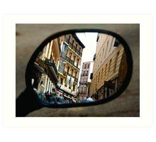 REFLECTING ON MADRID Art Print