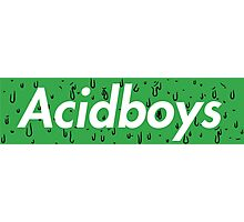 Acidboys Box Logo Photographic Print