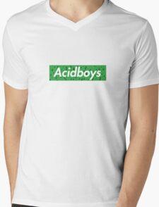 Acidboys Box Logo Mens V-Neck T-Shirt