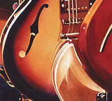 """""""Steel Strings"""" Guitar Watercolor by Paul Jackson"""
