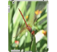 Red Skimmer or Firecracker Dragonfly iPad Case/Skin