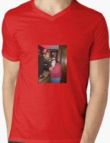 worm in the studio Mens V-Neck T-Shirt