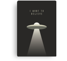 X Files - I Want To Believe Canvas Print