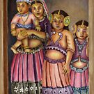 3 lil girls and a baby by sneha
