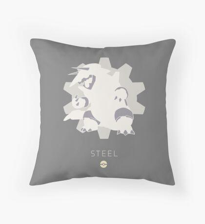 Pokemon Type - Steel Throw Pillow