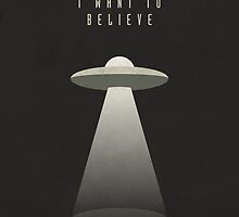X Files - I Want To Believe (textured) by Ivan Krpan