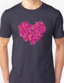 heart made of flowers T-Shirt
