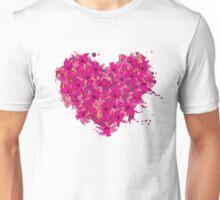 heart made of flowers Unisex T-Shirt