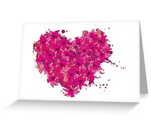 heart made of flowers Greeting Card