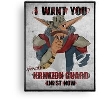 Join the Krimzon Gaurd Canvas Print