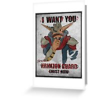 Join the Krimzon Gaurd Greeting Card