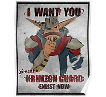Join the Krimzon Gaurd Poster