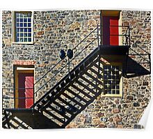 Stone Wall with Shadows Poster