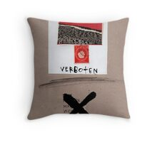 Verboten Throw Pillow