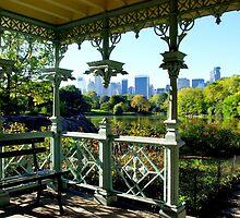 Central Park New York, Wedding Gazebo, View on Manhattan by coralZ