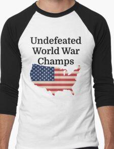 Undefeated World War Champs Men's Baseball ¾ T-Shirt
