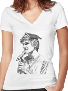 Bo Burnham Women's Fitted V-Neck T-Shirt
