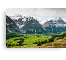 Grindelwald in Spring Canvas Print