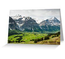 Grindelwald in Spring Greeting Card