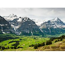 Grindelwald in Spring Photographic Print
